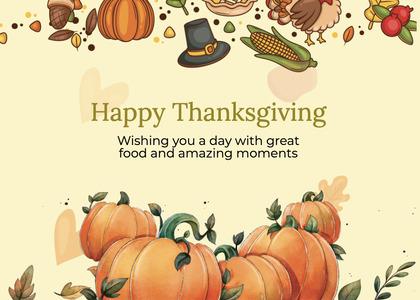 thanksgiving card 275 plant pumpkin
