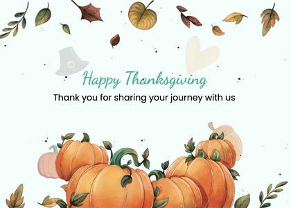 thanksgiving card 276 plant pumpkin