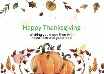 thanksgiving card 280 plant bird
