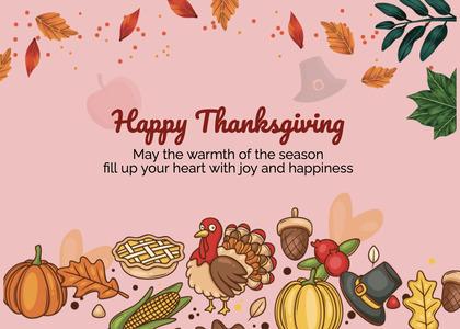 thanksgiving card 281 animal bird