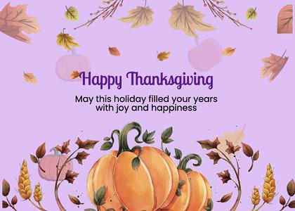 thanksgiving card 283 plant label