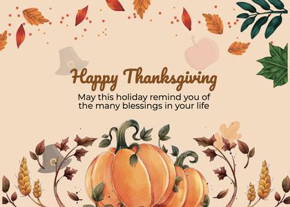 thanksgiving card 284 plant label