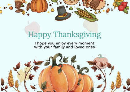 thanksgiving card 286 plant poster