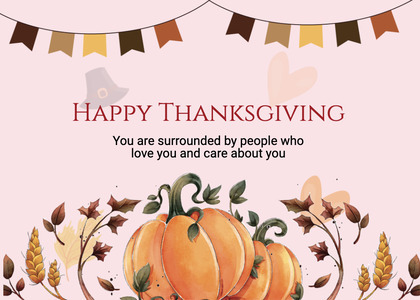 thanksgiving card 287 label text