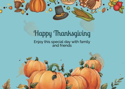 thanksgiving card 288 plant pumpkin