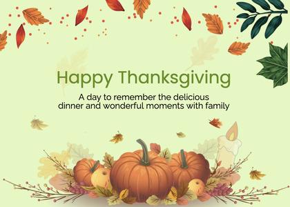 thanksgiving card 289 plant pumpkin