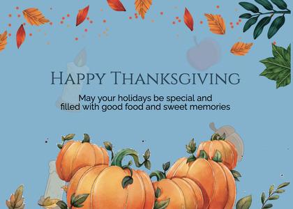 thanksgiving card 290 plant pumpkin