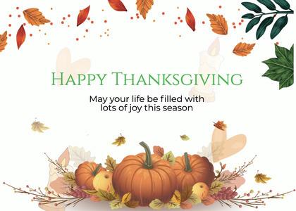 thanksgiving card 291 plant pumpkin