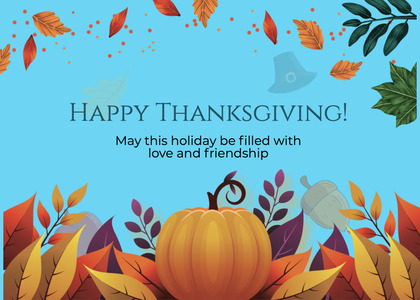 thanksgiving card 292 fish animal