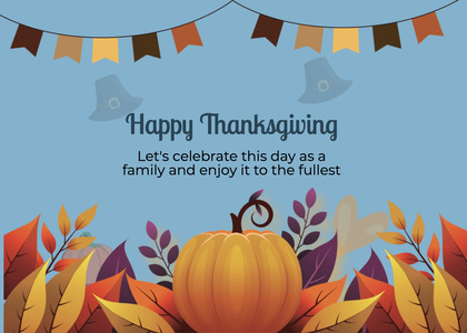 thanksgiving card 293 pumpkin food