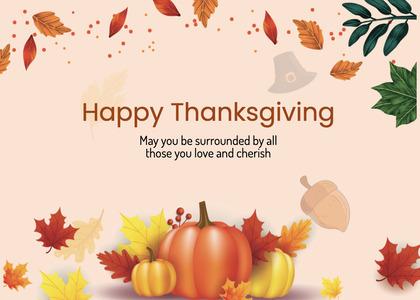 thanksgiving card 294 plant vegetable