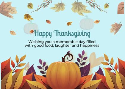 thanksgiving card 295 pumpkin plant