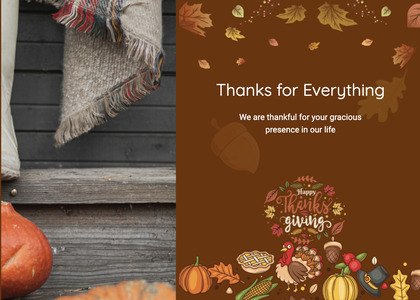 thanksgiving card 30 poster advertisement