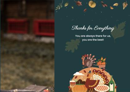 thanksgiving card 31 animal advertisement