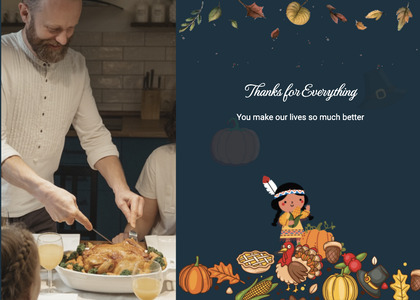 thanksgiving card 32 person human