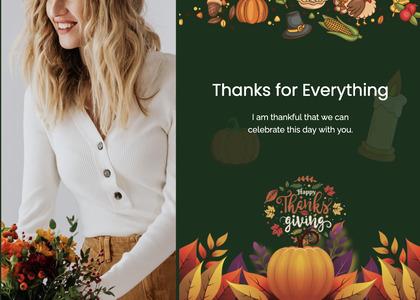 thanksgiving card 33 person human