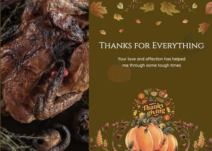 thanksgiving card 34 poster advertisement