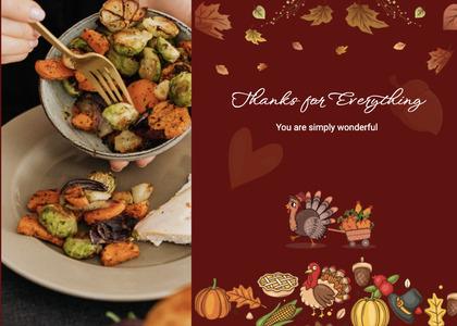 thanksgiving card 38 person human