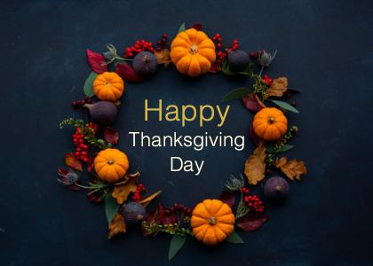 thanksgiving card 4 wreath birthdaycake