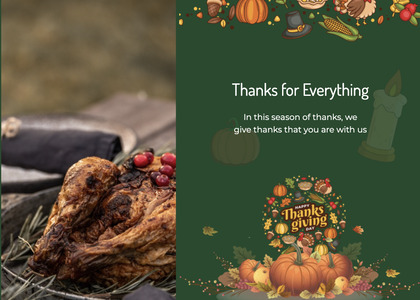 thanksgiving card 41 meal poster