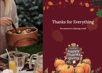 thanksgiving card 42 person plant