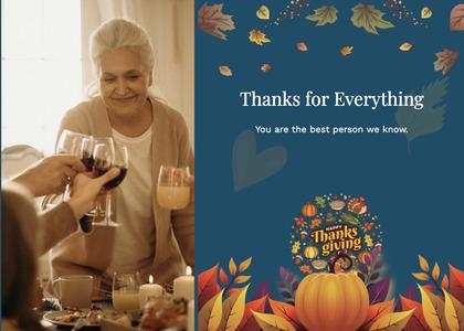thanksgiving card 43 person human