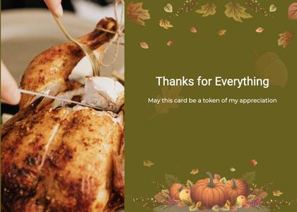 thanksgiving card 48 roast food