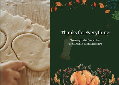 thanksgiving card 49 bread food