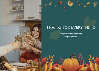 thanksgiving card 50 person human
