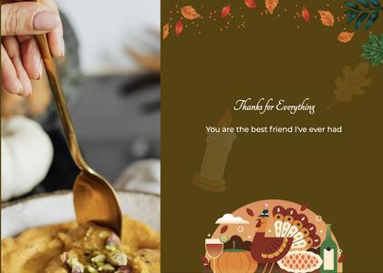 thanksgiving card 51 spoon cutlery