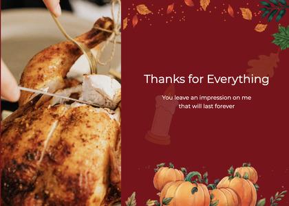thanksgiving card 54 roast food