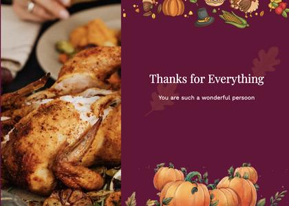 thanksgiving card 55 dinner supper