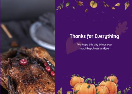 thanksgiving card 57 poster advertisement