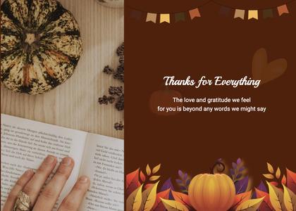thanksgiving card 58 flyer brochure