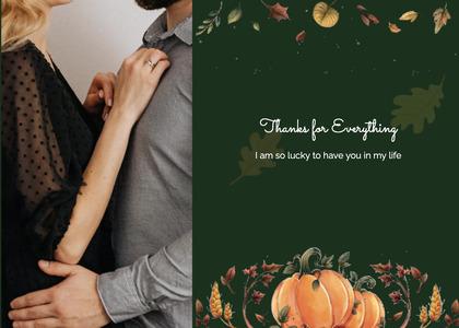 thanksgiving card 60 person human