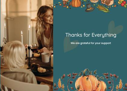 thanksgiving card 63 person human