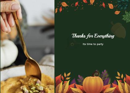thanksgiving card 64 spoon cutlery