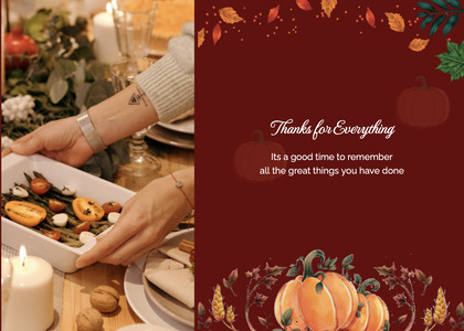 thanksgiving card 65 person culinary