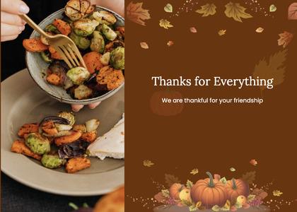 thanksgiving card 67 menu text