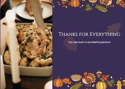 thanksgiving card 69 menu text