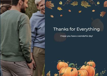 thanksgiving card 70 person human