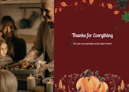 thanksgiving card 74 person human