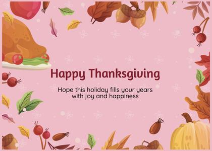 thanksgiving card 79 plant nut