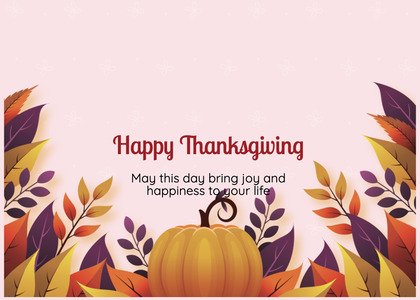 thanksgiving card 80 plant pumpkin