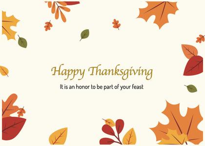 thanksgiving card 83 leaf plant