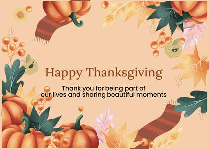thanksgiving card 90 person human