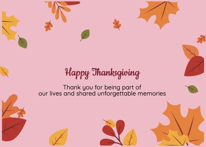thanksgiving card 91 leaf plant