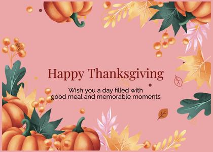 thanksgiving card 92 person human