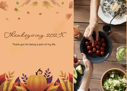 thanksgiving card 99 plant menu
