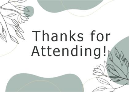 thankyou card 10 plant text